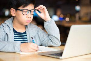 Boy taking Exam