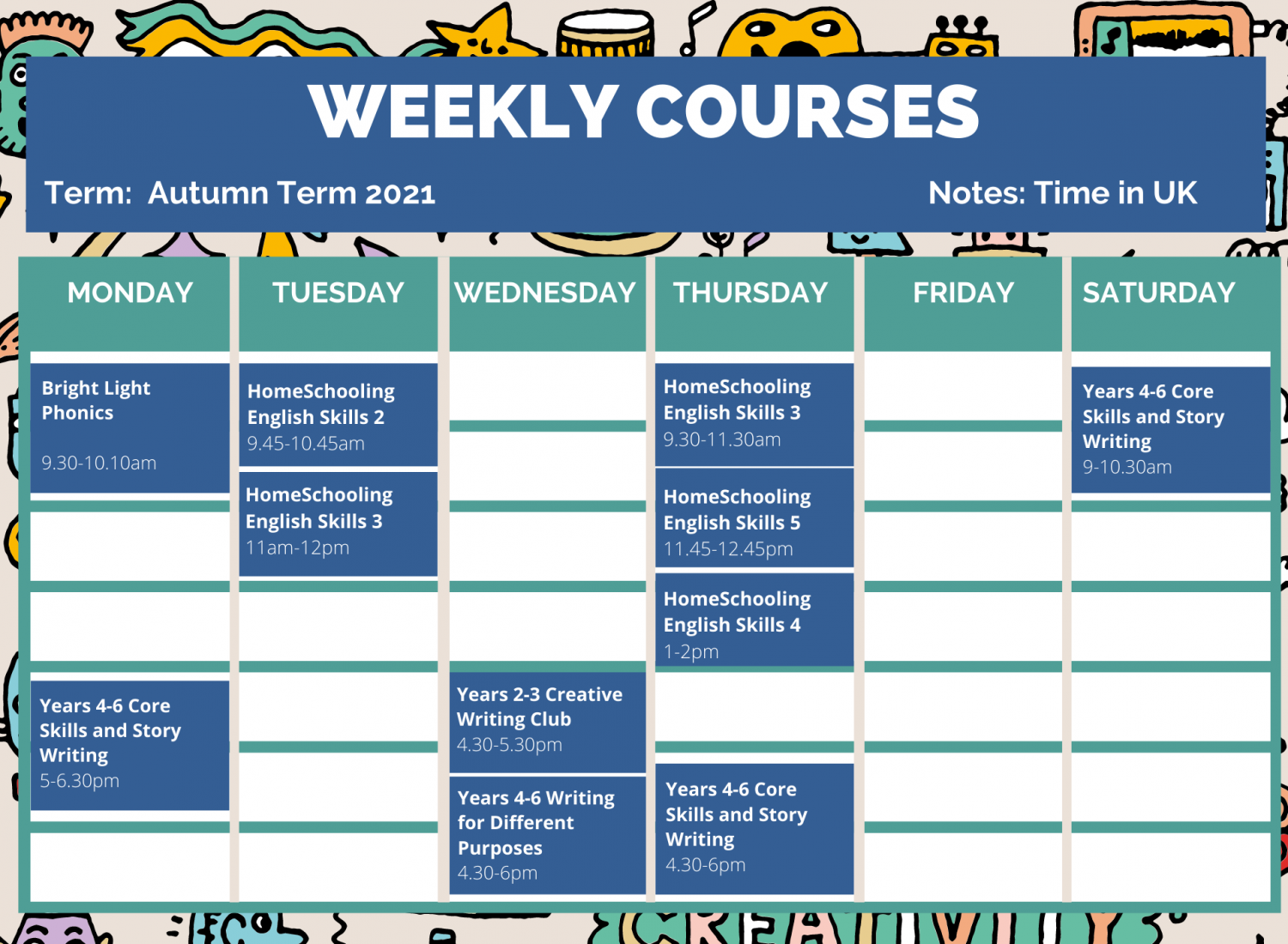 Weekly Online Course